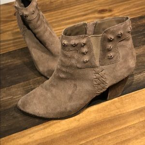 Franco Sarto Taupe Suede Booties size 9